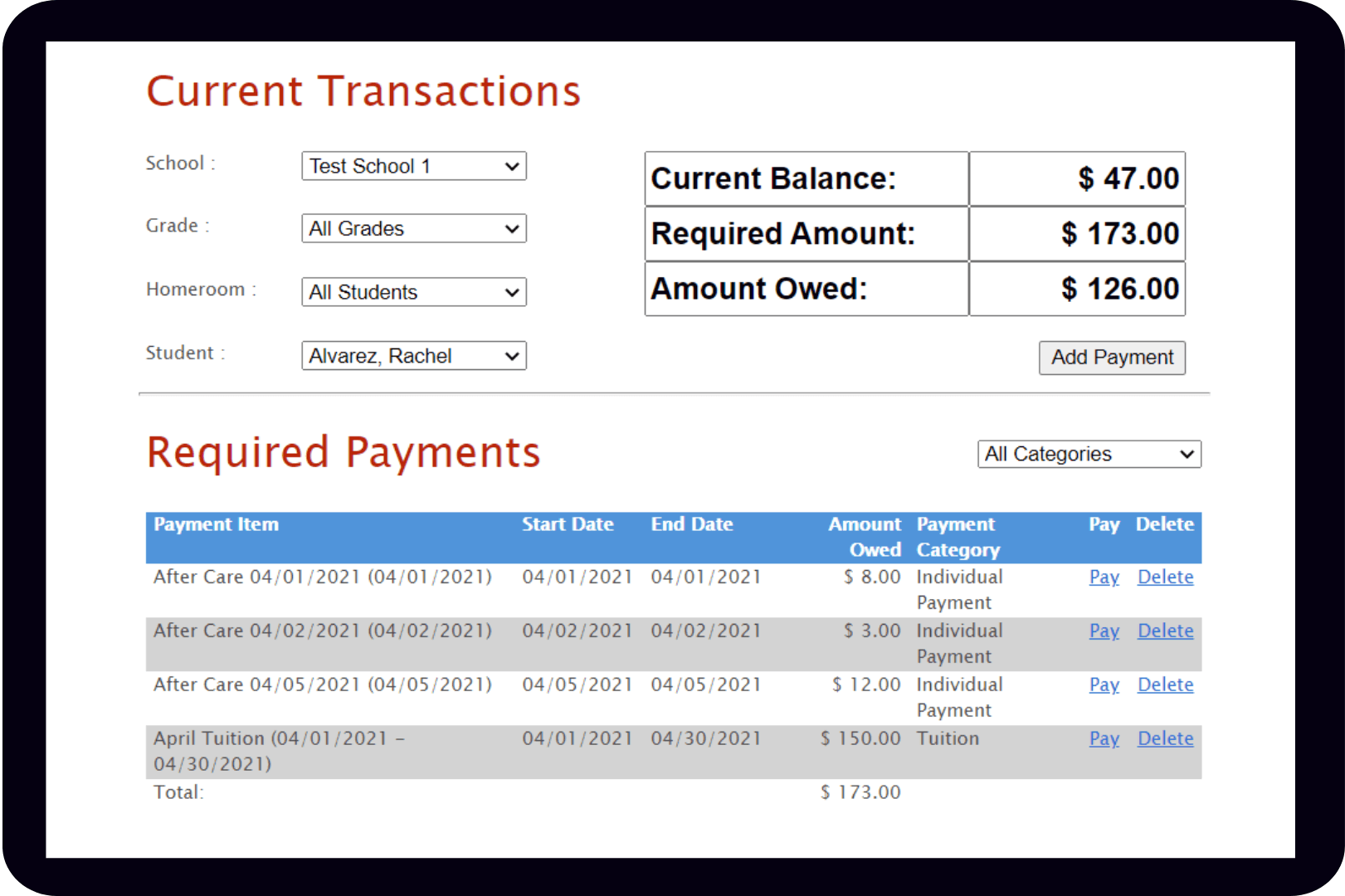 school payment software